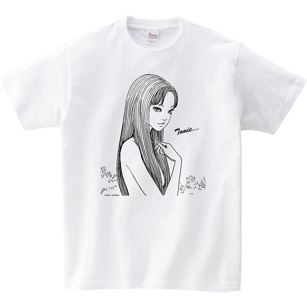 伊藤潤二 Tシャツ 『冨江』 ホワイト, ITO Junji Tshirts TOMIE White