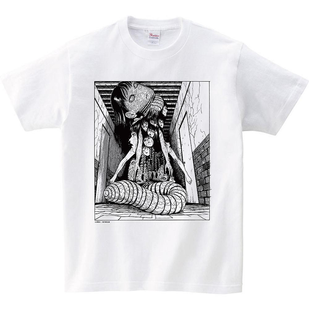 伊藤潤二 Tシャツ『屋敷』 ホワイト, ITO Junji Tshirts YASHIKI White