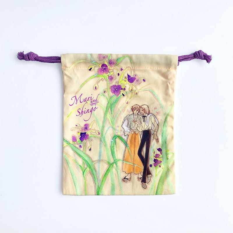 木原敏江 オリジナル巾着B 紫つゆくさ KIHARA Toshie Pouch B Iris