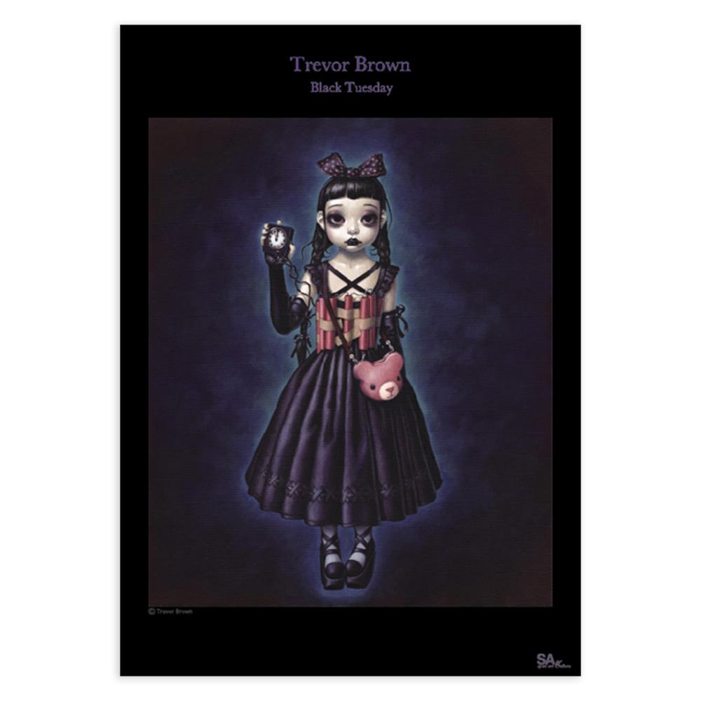 トレヴァー・ブラウン B2ポスター 女の子戦争 Black Tuesday / Trevor Brown B2 Poster
