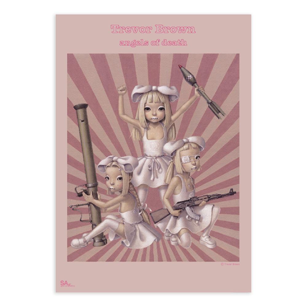 トレヴァー・ブラウン B2ポスター 女の子戦争 - angels of death- Trevor Brown B2 poster