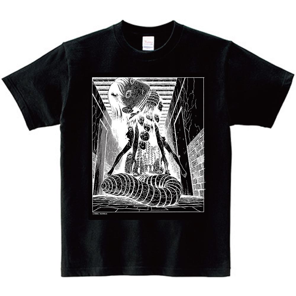 伊藤潤二 Tシャツ『屋敷』ブラック, ITO Junji Tshirts YASHIKI Black