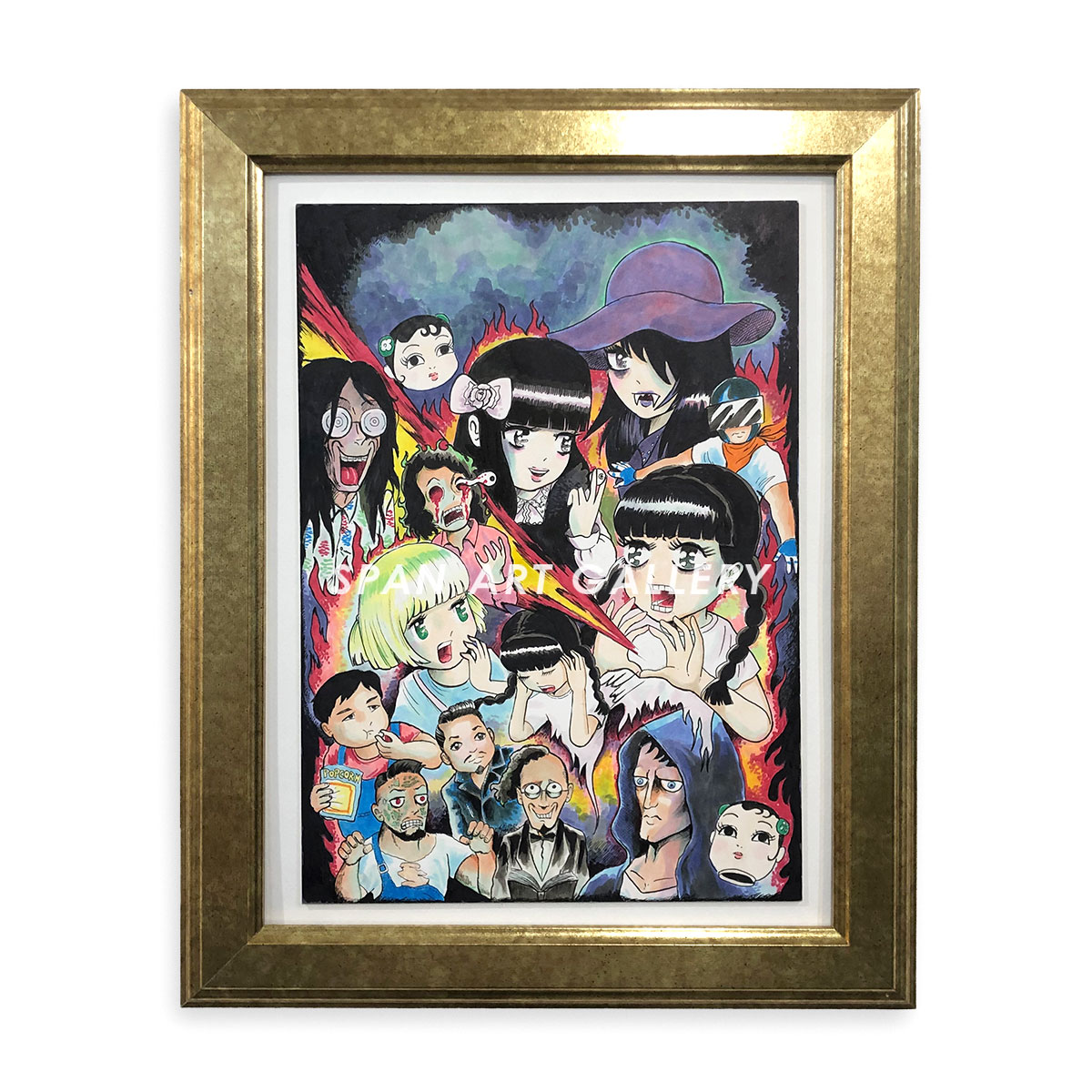 祟山祟 直筆原画『めろん畑のGO GO - DVDメラゴラゴラジャケット』