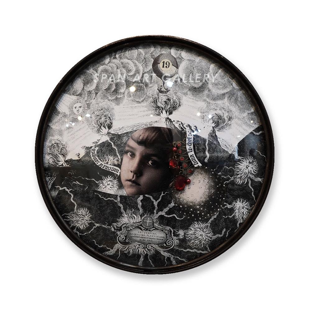 松島智里 平面作品『人口の夜の中に』