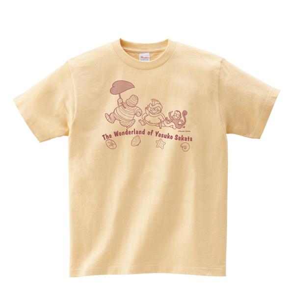 坂田靖子 Tシャツ「ふしぎの国の住人たち」