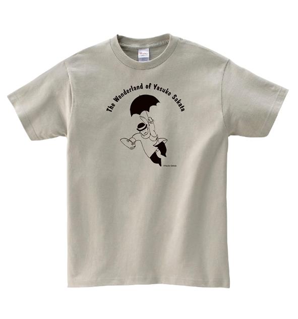 坂田靖子 Tシャツ「空飛ぶおじさん」